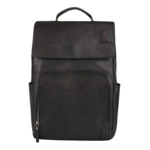 """Strellson Kožený batoh na notebook Upminster 4010002587 15-16"""" - černá"""