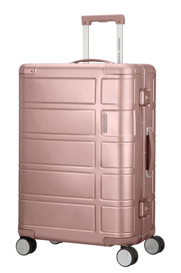 American Tourister Cestovní kufr Alumo Spinner 70G 64 l - růžová