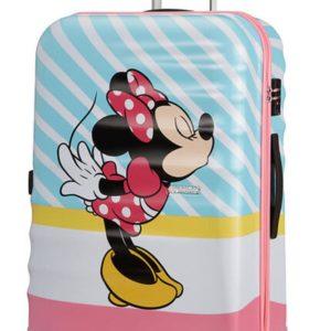 American Tourister Cestovní kufr Wavebreaker Disney Spinner 31C 96 l - Minnie Pink Kiss