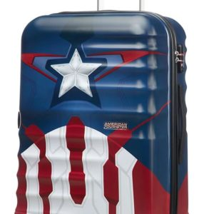 American Tourister Cestovní kufr Wavebreaker Marvel Spinner 31C 64 l - Captain America Close-Up