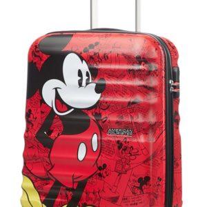 American Tourister Kabinový cestovní kufr Wavebreaker Disney Spinner 31C 36 l - Mickey Comics Red