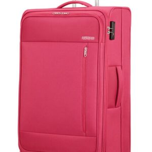American Tourister Látkový cestovní kufr Heat Wave L 92 l - růžová