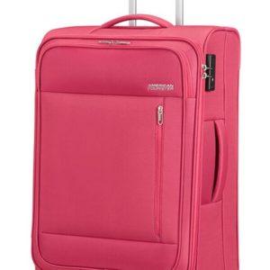 American Tourister Látkový cestovní kufr Heat Wave M 65 l - růžová