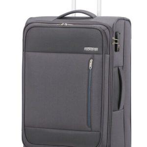 American Tourister Látkový cestovní kufr Heat Wave M 65 l - šedá