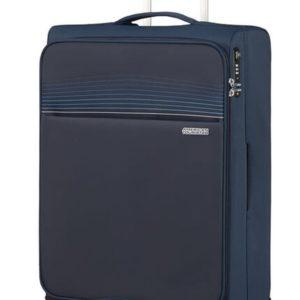 American Tourister Látkový cestovní kufr Lite Ray M 75 l - tmavě modrá
