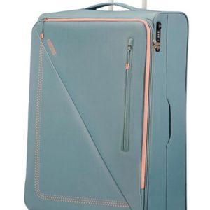 American Tourister Látkový cestovní kufr Lite Volt 102 l - GREY/PEACH