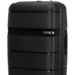 American Tourister Skořepinový cestovní kufr Linex 102 l - černá