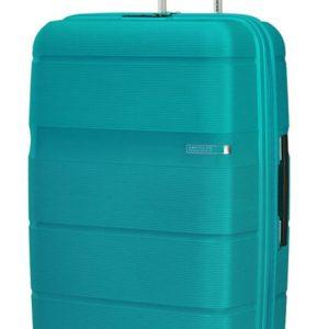 American Tourister Skořepinový cestovní kufr Linex 102 l - tyrkysová