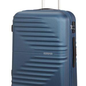 American Tourister Skořepinový cestovní kufr Wavetwister 63 l - tmavě modrá