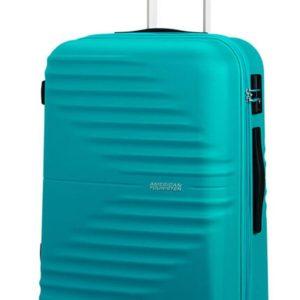 American Tourister Skořepinový cestovní kufr Wavetwister 63 l - tyrkysová