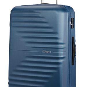 American Tourister Skořepinový cestovní kufr Wavetwister 94 l - tmavě modrá