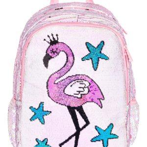 BAAGL Školní batoh Fun Plameňák 29 l
