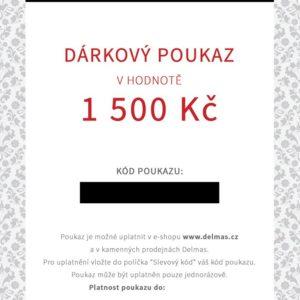 Delmas dárkový poukaz 1 500 Kč