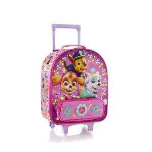 Heys Dětský textilní kabinový kufr Soft Paw Patrol Pink 21 l