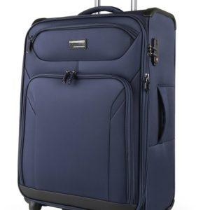 March Látkový cestovní kufr Black Forest M 67/72 l - modrá