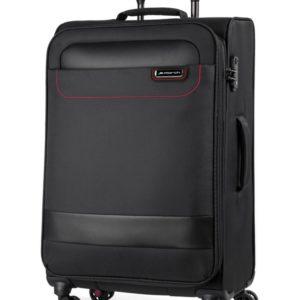March Látkový cestovní kufr Tourer 104 l - černá