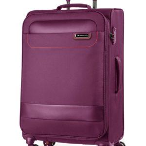 March Látkový cestovní kufr Tourer 104 l - fialová
