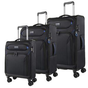March Sada cestovních kufrů Black Forest S + M + L