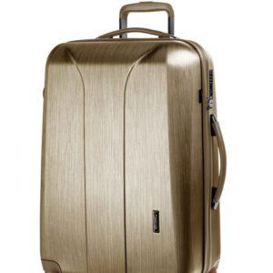 March Skořepinový cestovní kufr New Carat SE M 72 l - zlatá