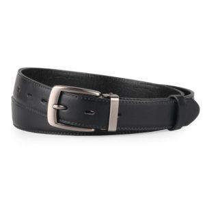 Penny Belts Pánský kožený společenský opasek 30-020-2-60 černý - 95