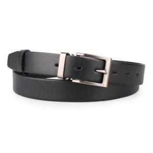 Penny Belts Pánský kožený společenský opasek s klasickou sponou 30-100-4-60 černý - 115