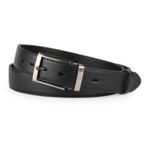 Penny Belts Pánský kožený společenský opasek s trnovou sponou 35-020-1-60 černý - 100