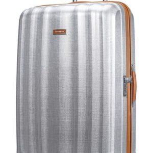 Samsonite Cestovní kufr Lite-Cube DLX Spinner 82V 122 l - stříbrná