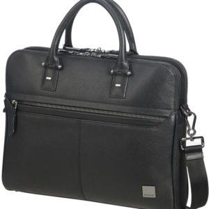 Samsonite Kožená taška na notebook Senzil Slim 14