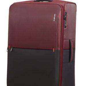 Samsonite Látkový cestovní kufr Rythum EXP 108/114 l - tmavě červená