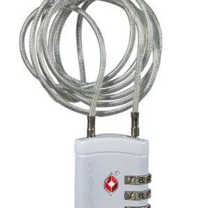Samsonite TSA zámek s lankem 121300 - bílá