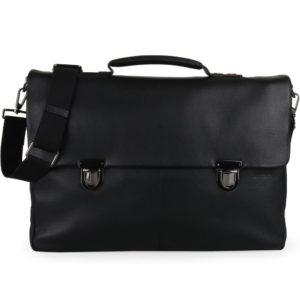 Strellson Pánská kožená taška přes rameno Garret 4010002345 - černá