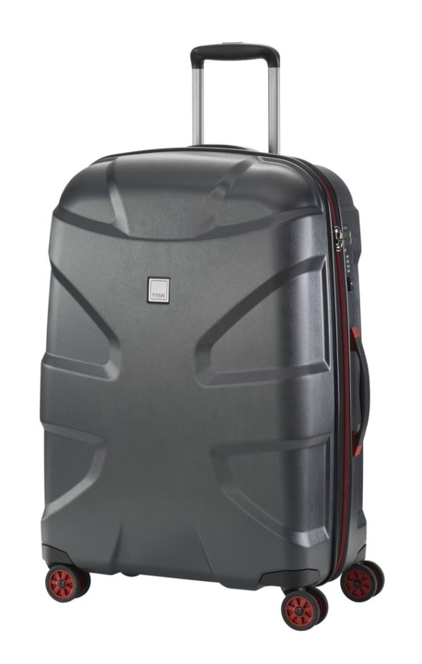 Titan Cestovní kufr X2 4w M+ Black brushed 90 l