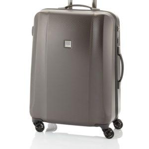 Titan Skořepinový cestovní kufr Xenon Deluxe Brown 103/117 l