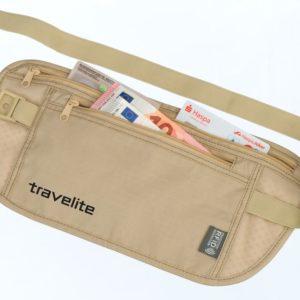 Travelite Bezpečnostní kapsička s RFID ochranou béžová