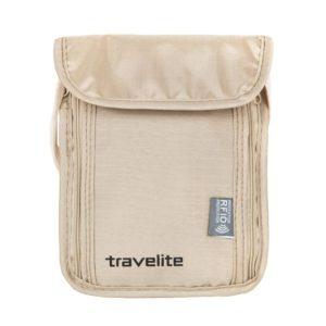 Travelite Cestovní kapsička Neck pouch RFID Beige