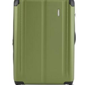 Travelite Cestovní kufr City 4w L Green 113/124 l