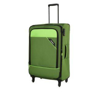 Travelite Cestovní kufr Derby 4w L Green 87549-80 102/115 l