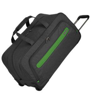 Travelite Cestovní taška na kolečkách Madeira Anthracite/Green 60 l