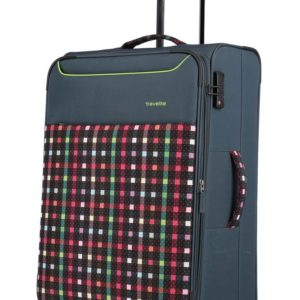Travelite Látkový cestovní kufr Argon L Checked Pattern 92/99 l