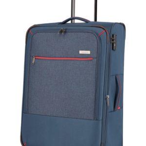Travelite Látkový cestovní kufr Arona L Navy 84/97 l