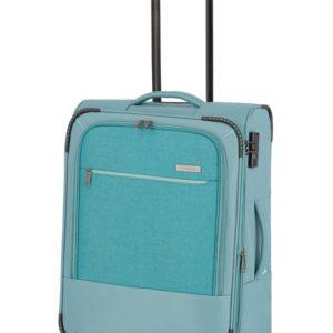 Travelite Látkový cestovní kufr Arona M Aqua 56/65 l