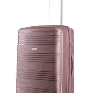 Travelite Skořepinový cestovní kufr Zenit M Dark Rose 72/77 l