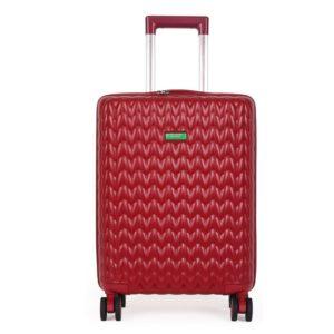 United Colors of Benetton Kabinový cestovní kufr KNIT 35 l - červená