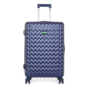 United Colors of Benetton Skořepinový cestovní kufr KNIT Medium 60 l - tmavě modrá