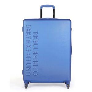 United Colors of Benetton Skořepinový cestovní kufr UCB Large 100 l - modrá