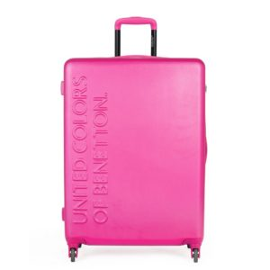 United Colors of Benetton Skořepinový cestovní kufr UCB Large 100 l - růžová