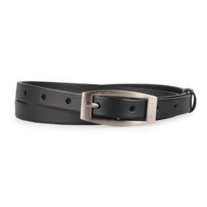 Penny Belts Dámský úzký kožený opasek 15-2-63 černý - 95