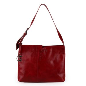 Sněžka Náchod Dámská kožená kabelka přes rameno 4643 - červená