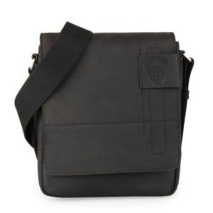 Strellson Pánský kožený messenger Richmond  4010001165 černá