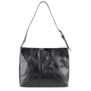 Sněžka Náchod Dámská kožená kabelka přes rameno 4643 - černá